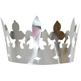 4 Königskronen aus Silberlamé von Jabadabado