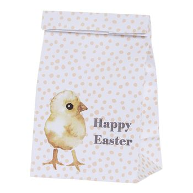 Geschenktüte,  Frohe Ostern , mit Küken, aus Papier, von Bloomingville