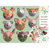 Kreativset für Kinder, 8 kleine Tiertrophäen, ab 3 Jahren, von Djeco