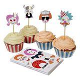 Muffin Set,  Lustige Gesichter , mit Muffinförmchen, Steckern und Stickerbögen, von Meri Meri