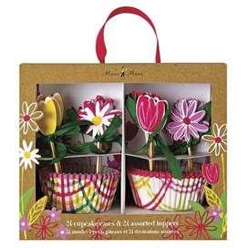 Muffin Set,  Floral , 24-teilig, von Meri Meri
