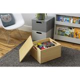 Stapelbare Aufbewahrungskiste aus leichtem Holz, Sorting Box, 40 x 34 x 24 cm, natur, von Tidy Books