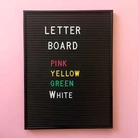 Letter Board, schwarz, 30 x 40 cm, (ohne Buchstaben), OMM Design