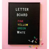 Buchstaben Nummern und Symbole für das Letter Board, in gelb, 1,9 cm, 286 Teile, von OMM Design