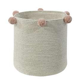 """Aufbewahrungskorb """"Basket Bubbly Natural Nude"""", aus Baumwolle, 30 x 30 x 30 cm, von Lorena Canals"""