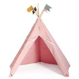 Indianerzelt Hippie Tipi aus Stoff, rose, von roommate