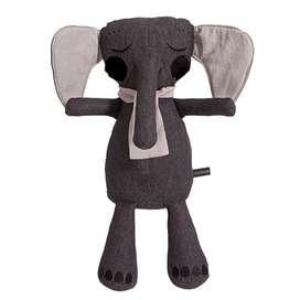 Niedlicher Kuschel Elefant, 50 cm, in anthrazit, aus Bio Baumwolle, von roommate