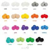 Mix & Match Bällebad eckig in mint, 90 x 90 x 40 cm, inkl. 200 Bälle mit freier Farbwahl