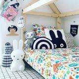 Coole Retro Kinderbettwäsche,  Bauernhof , aus Baumwolle, zwei Größen verfügbar, von byGraziela