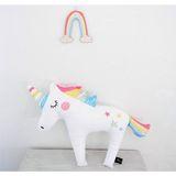 Zauberhaftes Kuschel Einhorn, Rainbow, 40 x 30 cm, Baumwolle, von Foxella & Friends