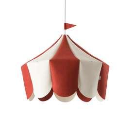 Schicke Pendelleuchte  Circus , rot, aus Wolle, 38 x 42 cm, von buokids