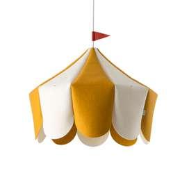 Schicke Pendelleuchte  Circus , gelb, aus Wolle, 38 x 42 cm, von buokids