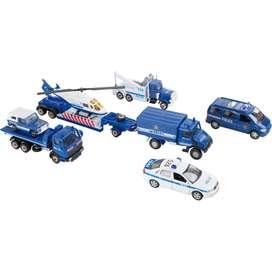 9 teiliges Spielset  Modellautos Polizei , von Legler