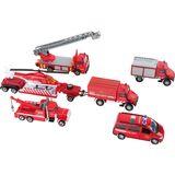 9 teiliges Spielset  Modellautos Feuerwehr , von Legler