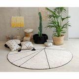Teppich rund  Trace , in beige, 160 cm Durchmesser, waschbar, Lorena Canals