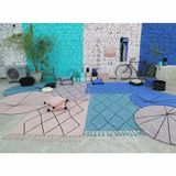 Teppich rund  Trace Vintage , in nude, 160 cm Durchmesser, waschbar, Lorena Canals