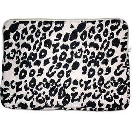 Laptop Tasche  Sleeve , Leoprint schwarz/weiß, 36 x 24 x 2 cm, aus Baumwolle, von YML Kids
