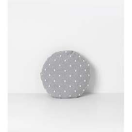Kuschelkissen Rundkissen  Popcorn , in grau, 40 cm Durchmesser, aus Baumwolle, von Ferm Living