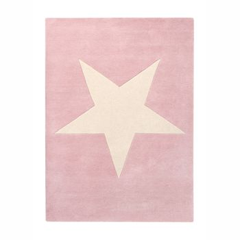 Kinderteppich  Big Star , in vintage nude, 140 x 200 cm, 100% Wolle, Lorena Canals