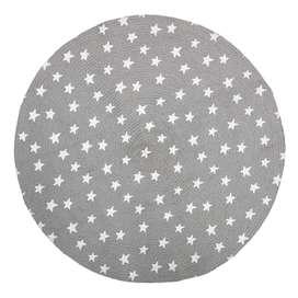 Runder Kinderteppich in Grau mit Sternen, aus Jute, 100 cm Durchmesser, von Bloomingville