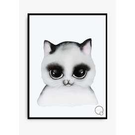 Kinderposter  Katze , 30 x 40 cm, aquarell, von Kreativitum