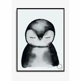 Kinderposter  Pinguin , 30 x 40 cm, aquarell, von Kreativitum