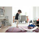 Balanceboard  Wobbel  Original, transparent lackiert mit Filz in der Farbe sky, 90 x 30 cm, aus Holz von Wobbel