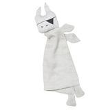 Schmusetuch Schnuffeltuch Piraten Häschen  Pirate Bunny , in grau, aus Bio Baumwolle, von Fabelab