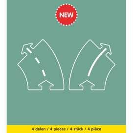 Spielstraße Erweiterungsset  Curves Extensions Set , 4 Teile, von Way to play