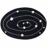 Teppich  Galaxy, Milchstraße , oval, 140 x 200 cm, waschbar, Lorena Canals