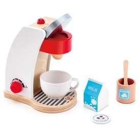 Kinderküchen Zubehör, Kaffeemaschine, aus Holz, 6 Teile, von Hape