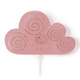 Kinder Wandlampe, Wolke, in rose, 20,5 x 33 cm, aus Metall, von roommate