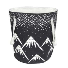 """Aufbewahrungskorb """"Aspen"""" in schwarz/weiß, 100% Baumwolle, 30 x 40 cm, von Nattiot"""