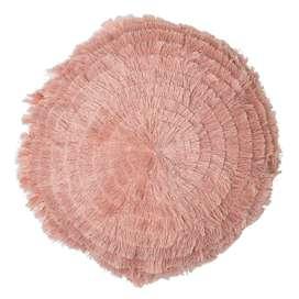 Traumhaftes Dekokissen, in rose, rund, 40cm, aus Baumwolle, von Bloomingville