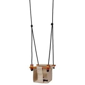 Indoor und Outdoor Baby- und Kinderschaukel  Baby & Toddler Swing , in soft leinen, 0 bis 6 Jahre, von Solvej Swings