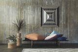 Teppich mit Rauten,  Mino Rug , 190 x 130 cm, Wolle und Baumwolle, Rautenmuster, OYOY