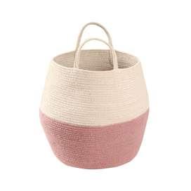 """Aufbewahrungskorb """"Basket Zoco , in rose und natur, aus Baumwolle, 30 x 30 cm, von Lorena Canals"""