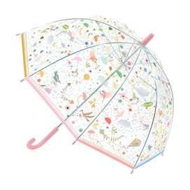 Zauberhafter Kinder Regenschirm, transparent mit Druck  Small Lightnesses , von Djeco