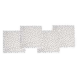 Servietten  Confetti  schwarz-weiss, 20 Stück, von Jabadabado