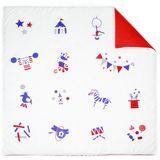 Zauberhafte Krabbeldecke und Spieldecke, 100 x 100 cm,  Zirkus , 100% Bio Baumwolle, von Deuz