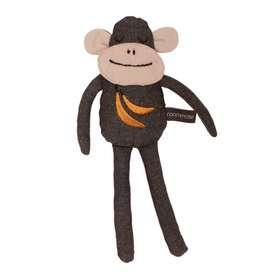 Stofftier, niedlicher Kuschel Affe, 30 cm, in anthrazit, aus Bio Baumwolle, von roommate