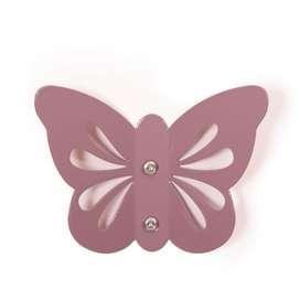 Wandhaken Schmetterling in violett, aus Metall, von roommate