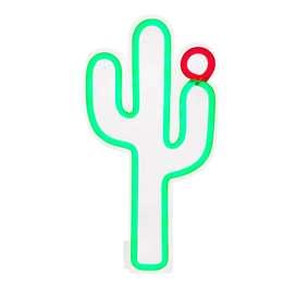 Kleine Neon Lampe,  Kaktus , Wandlampe, 22 x 2 x 40 cm, von Sunnylife