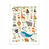 Kinderposter  ABC Tieralphabet , 50 x 70 cm, von 54 illustration
