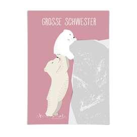 Kinderposter  Große Schwester , rosa, A3, von 54 illustration