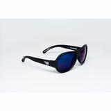 UV Sonnenbrille, Polarized, in  black ops black with cool blue lenses , für Babys und Kleinkinder, in zwei Größen, von Babiators