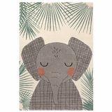 Kinderteppich Elefant  Junko , 100% Polypropylen, 120 x 170 cm, von Nattiot