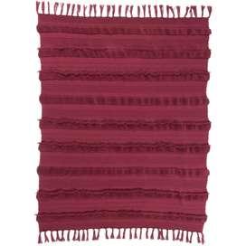 Kuscheldecke,  air savannah , 125 x 150 cm, aus Baumwolle, in rot, von Lorena Canals