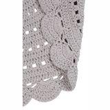 """Hochwertiger Teppich """"Alma"""", handgehäkelt, in leinen, 120 cm Durchmesser, aus Baumwolle, von Nattiot"""