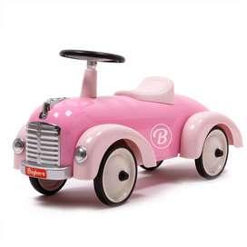 Nostalgisches Rutschauto  Speedster , aus Metall, rose, von Baghera